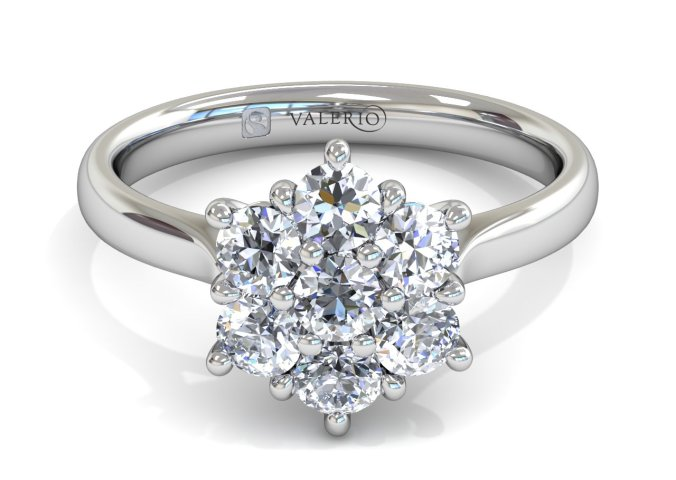 Starlight Halo Ladies Fairtrade Gold Engagement Ring