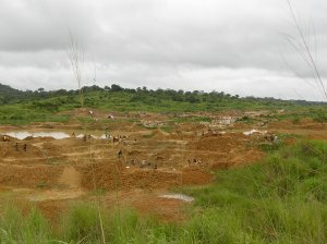 The Fields of Kono - diamond digging.