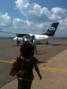 The plane that will take me to Bunia.
