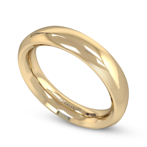 Valerio Jewellery Signature Mens Court Wedding Ring. 18ct. Fairtrade yellow gold.