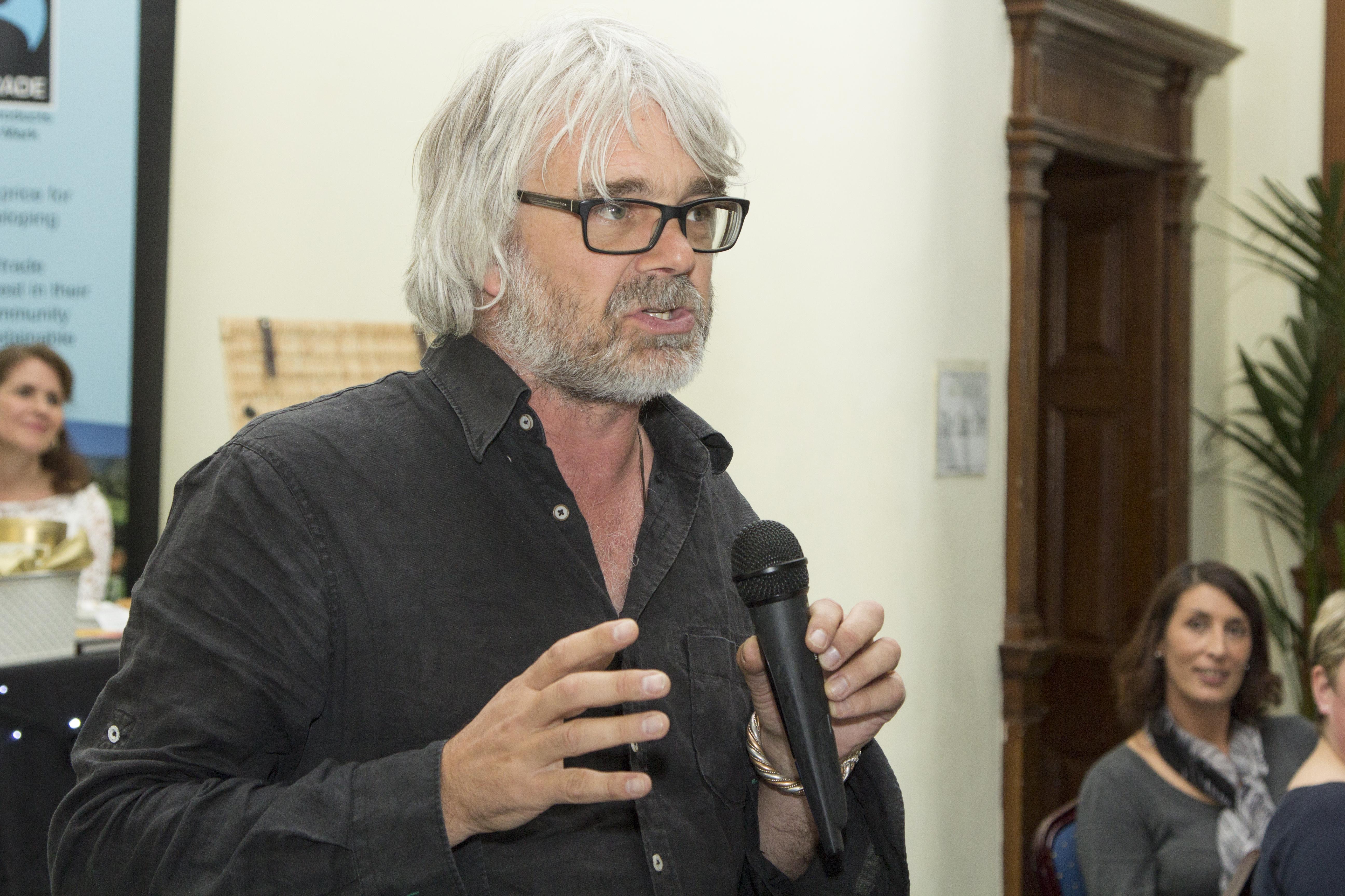 Greg addressing Gala Dinner in Bristol
